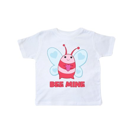 Pink Bee Mine Valentine's Day Bee With Heart Toddler T-Shirt (Bee Valentine)