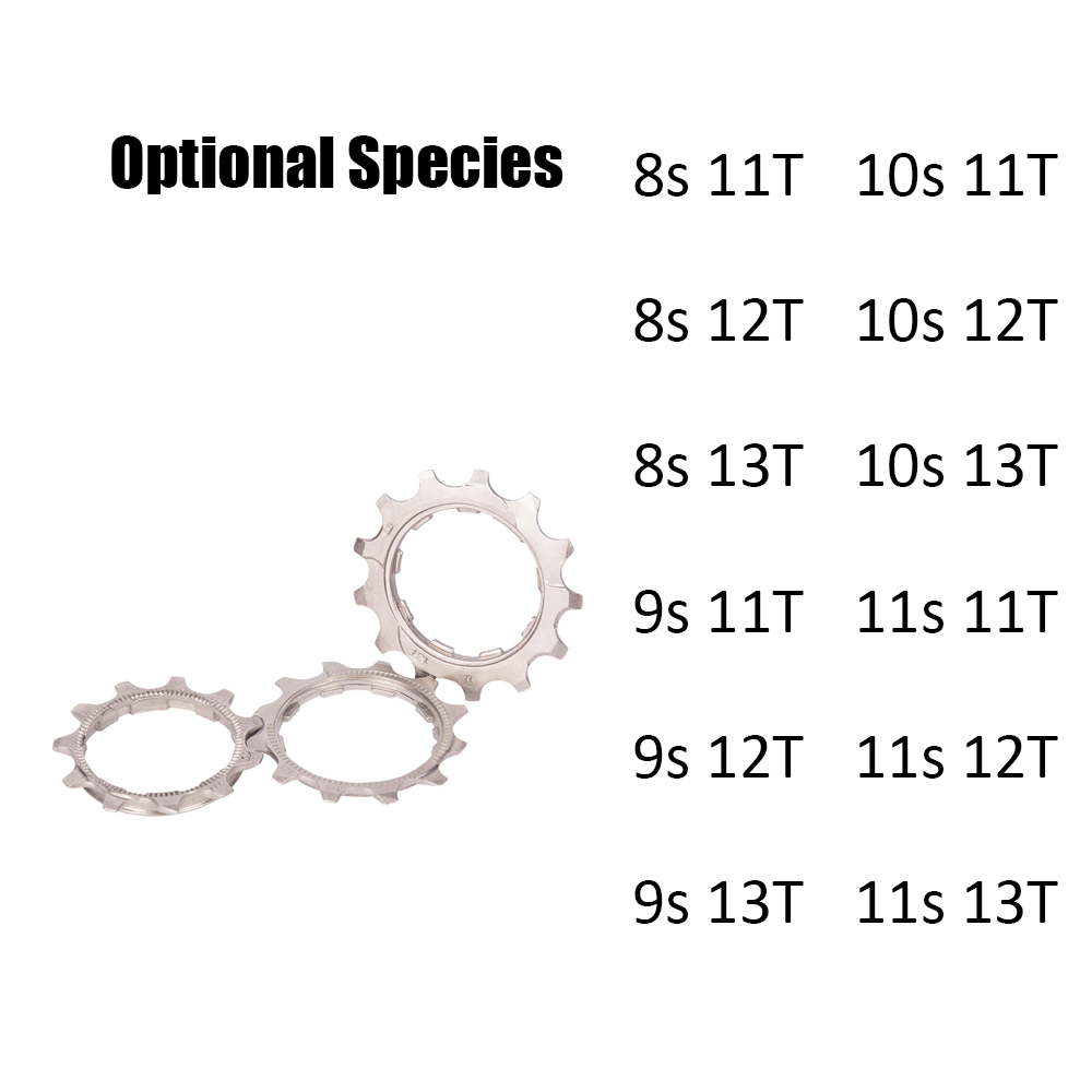 ZTTO 8/9/10/11 Speed 11T/12T/13T Freewheel Flywheel Pinion for Bicycle Bike MTB Cassette Cog in Mountainous Region and Highway