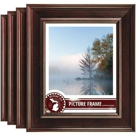 Craig Frames Contemporary Mahogany Red Picture Frame, Set of (Mahogany Four)