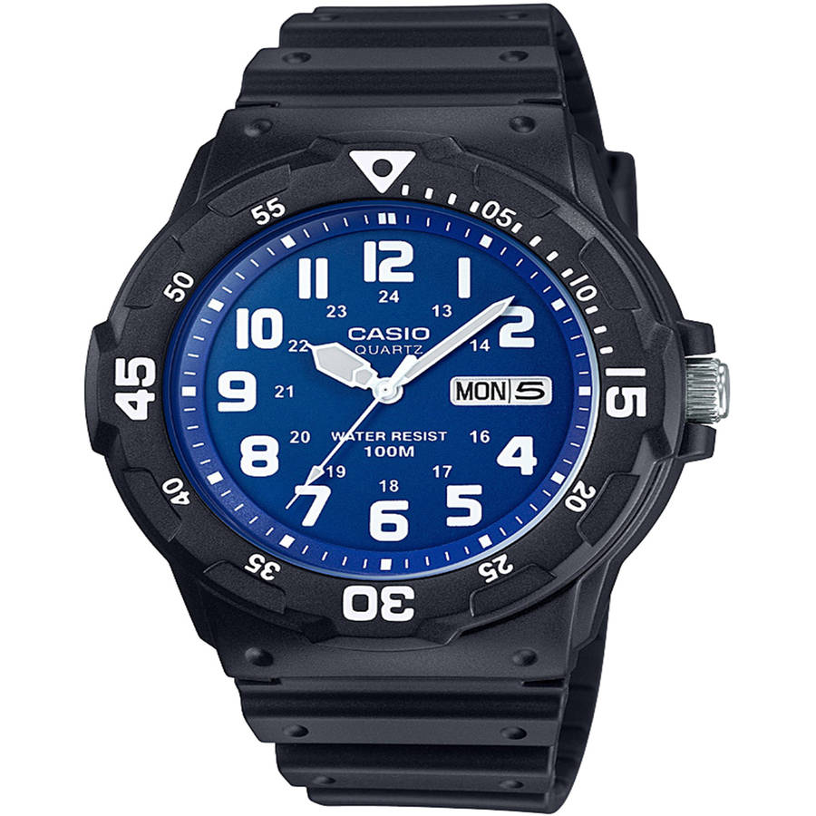 Casio Men's Dive Style Watch, Black/Blue