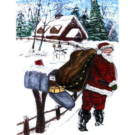 Caroline's Treasures Santa Claus delivering packages 2-Sided Garden (Garden Package)