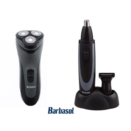 Close Trimmer - Barbasol Close Shave Rotary W/Pop Up Trimmer & Ear & Nose Trimmer Kit