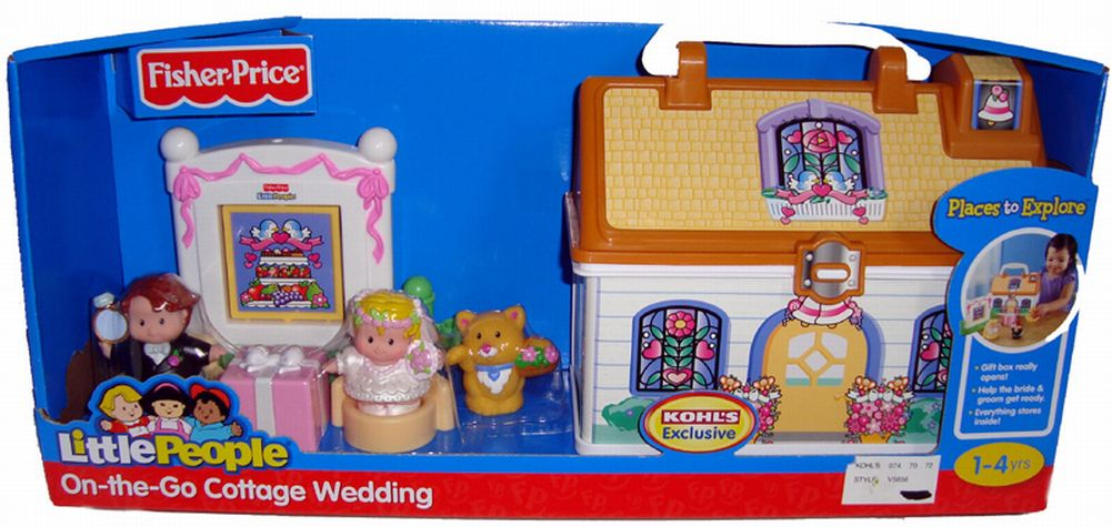 Fisher Price Little People Cottage Wedding Take along by