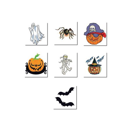 New School Halloween Tattoo Designs (Halloween Temporary Tattoo)