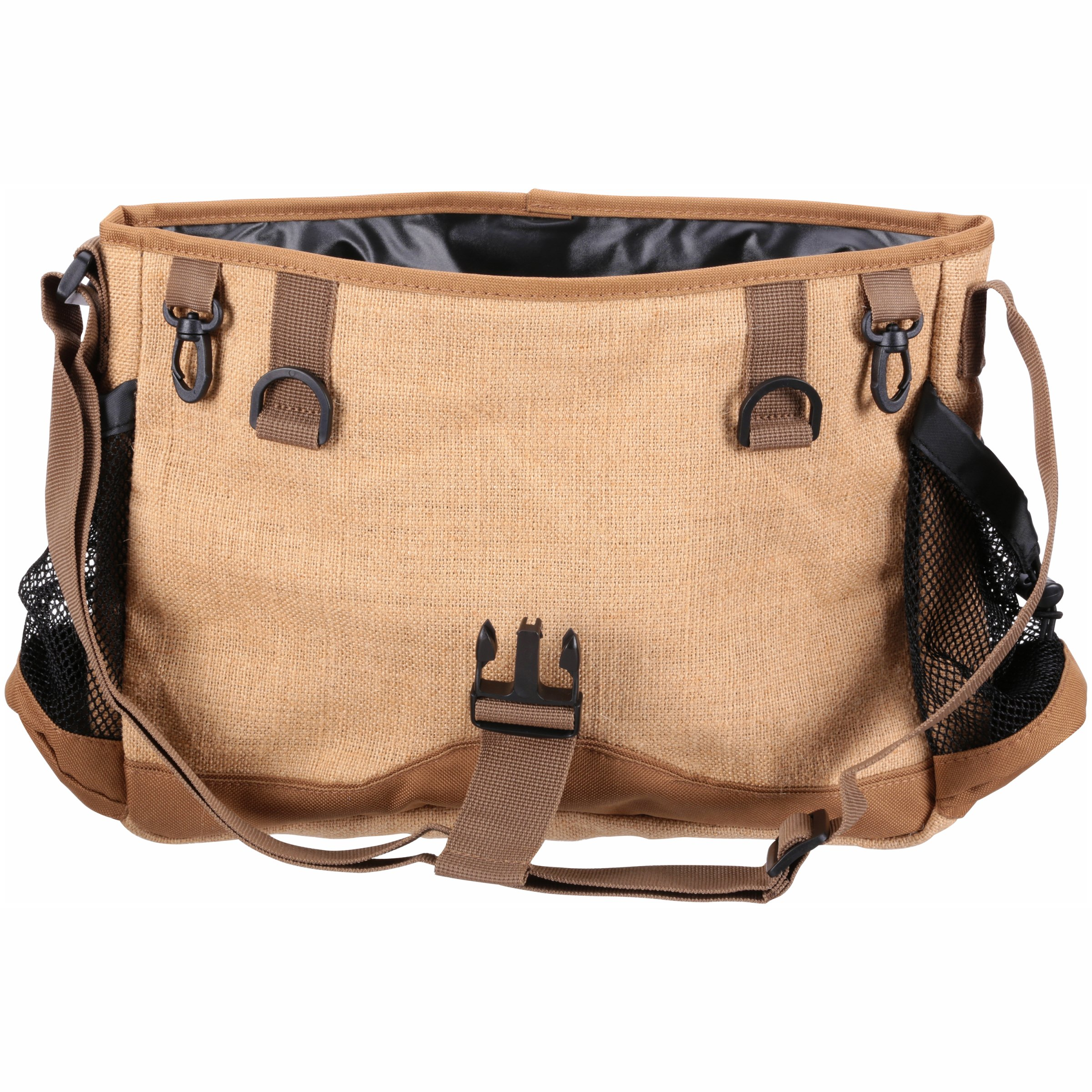 Eagle Claw Canvas Creel Shoulder Strap Fishing Bag Organizer Outdoor Accessory