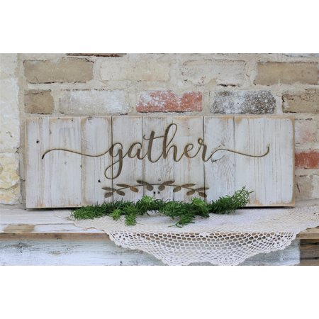 Gather Engraved Sign