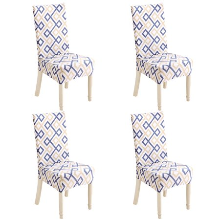 Set Of 4 Chair Cover Fitted Chair Slipcovers Removable Washable For Hotel Dining Room Wedding Banquet Stretch Spandex Party Decor