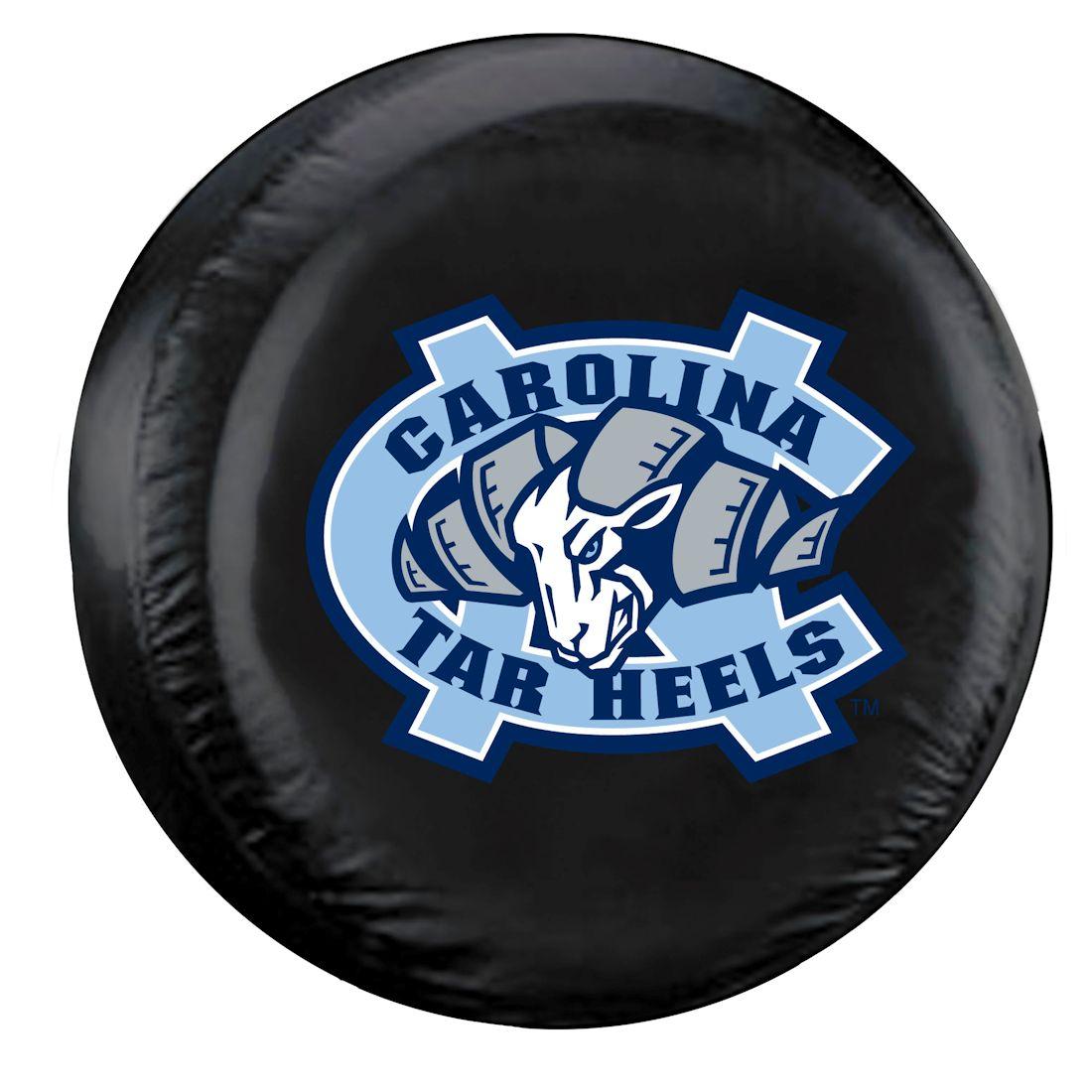 North Carolina Tar Heels Black Tire Cover - Standard Size