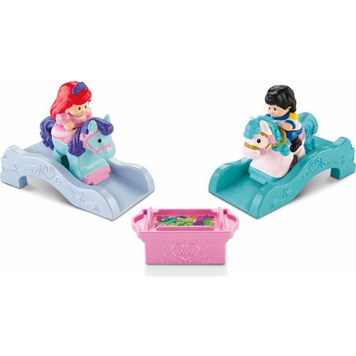 Fisher-Price Little People Klip Klop Disney Ariel/Prince Eric Action Figure Play Set