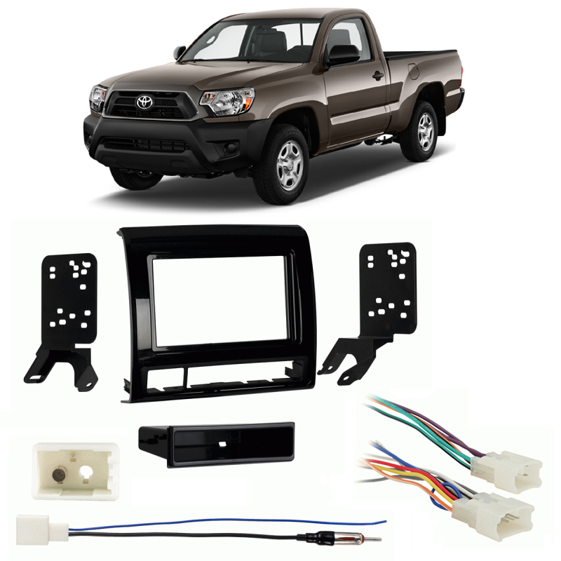 Fits Toyota Tacoma 2012 W   Nav Sdin Harness Radio Dash Kit