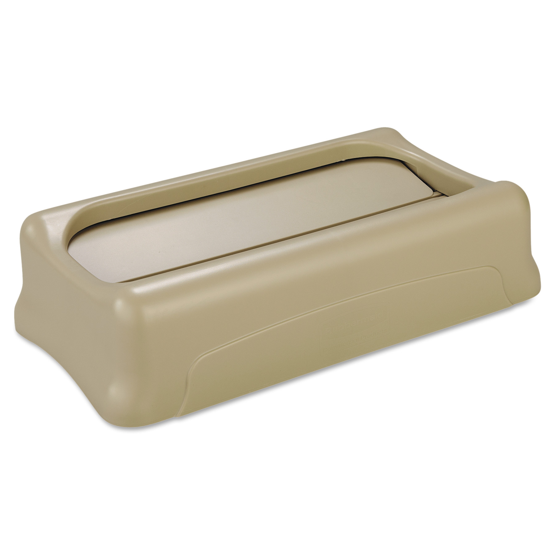 Rubbermaid Commercial Slim Jim Swing Lid, 11 3/8w x 20 1/2d x 5h, Beige
