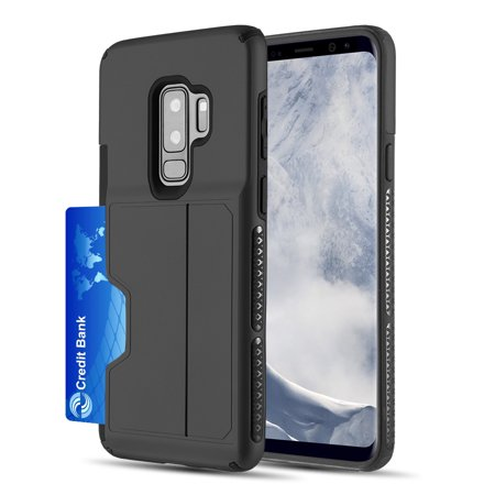 [Samsung Galaxy S9 PLUS] Redshield Card TO GO II Hybrid Case PC + TPU with Card Slot [Black]](Go Plus)
