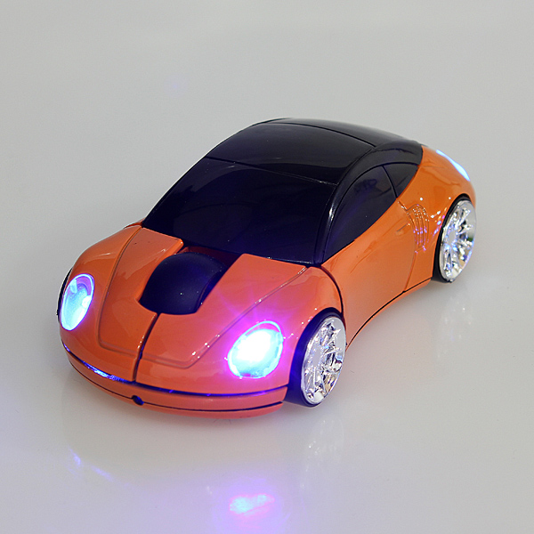 USB Wireless Optical Mouse 2.4GHz 1600DPI 3D Car Shape Mice for Laptop PC 5 color
