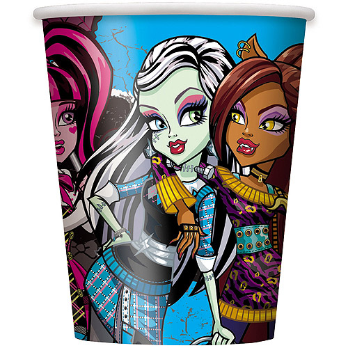 9 oz Paper Monster High Cups, 8ct