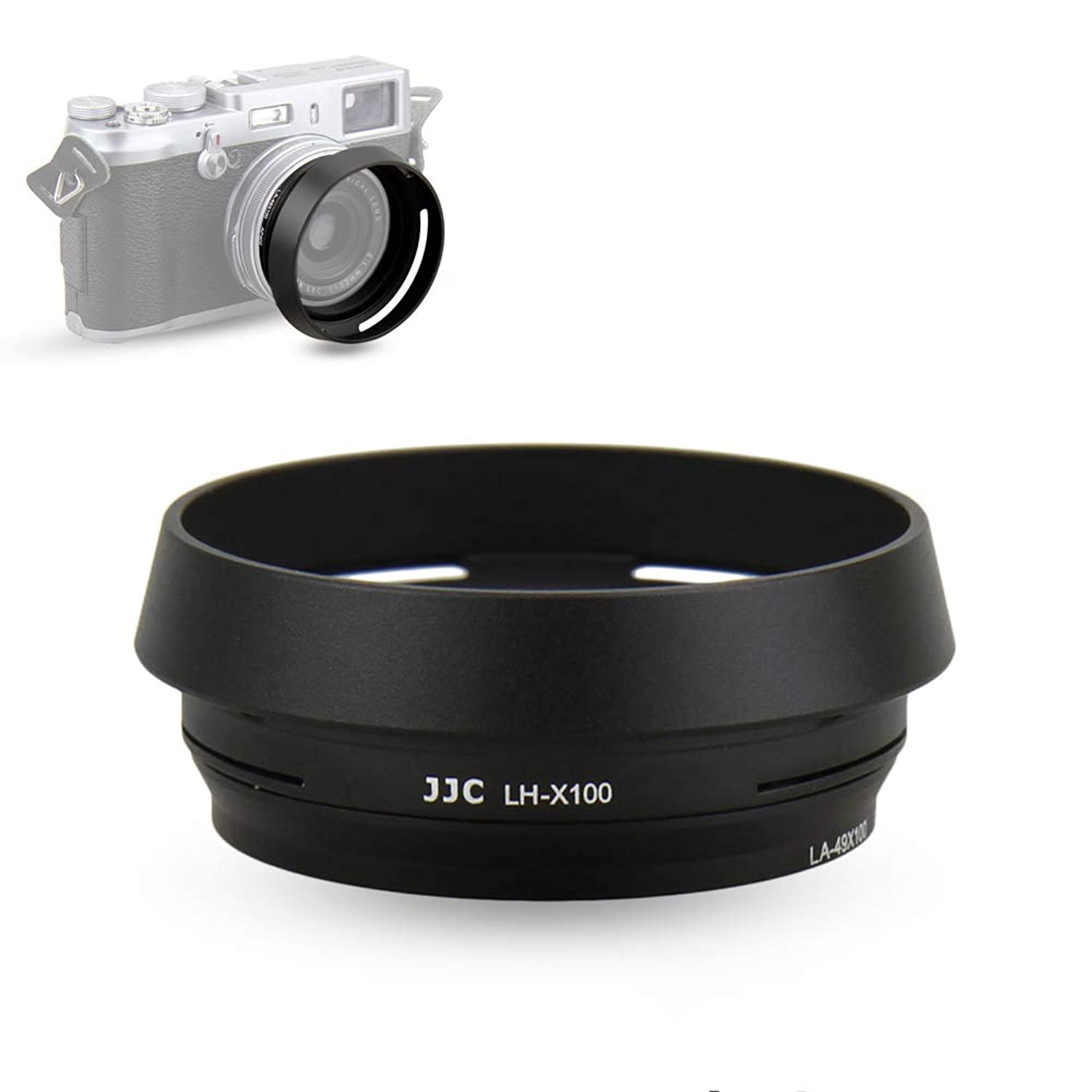 Jjc Lh X100 Lens Hood Sun Shade With 49mm Filter Adapter Ring For Fuji Fujifilm X100v X100f X100t X100s X100 Digital Camera Metal Material And Black Color Walmart Com Walmart Com