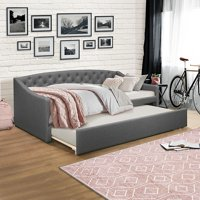 Zoey Tufted Upholstered Twin Daybed With Trundle, Multiple Colors, by Hillsdale Living Essentials