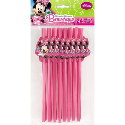 Minnie Mouse Party Straws, 24ct