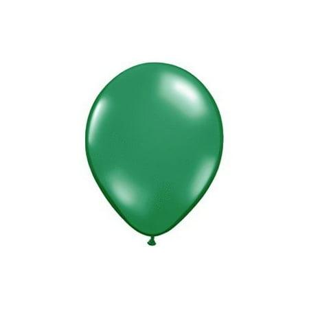 5 Inch Green Qualatex Latex Balloons - Lighted Balloons