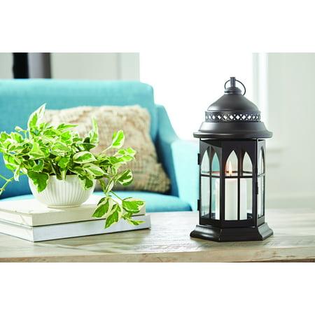 Better Homes & Gardens Metal and Rain Glass Solar Lantern, Large