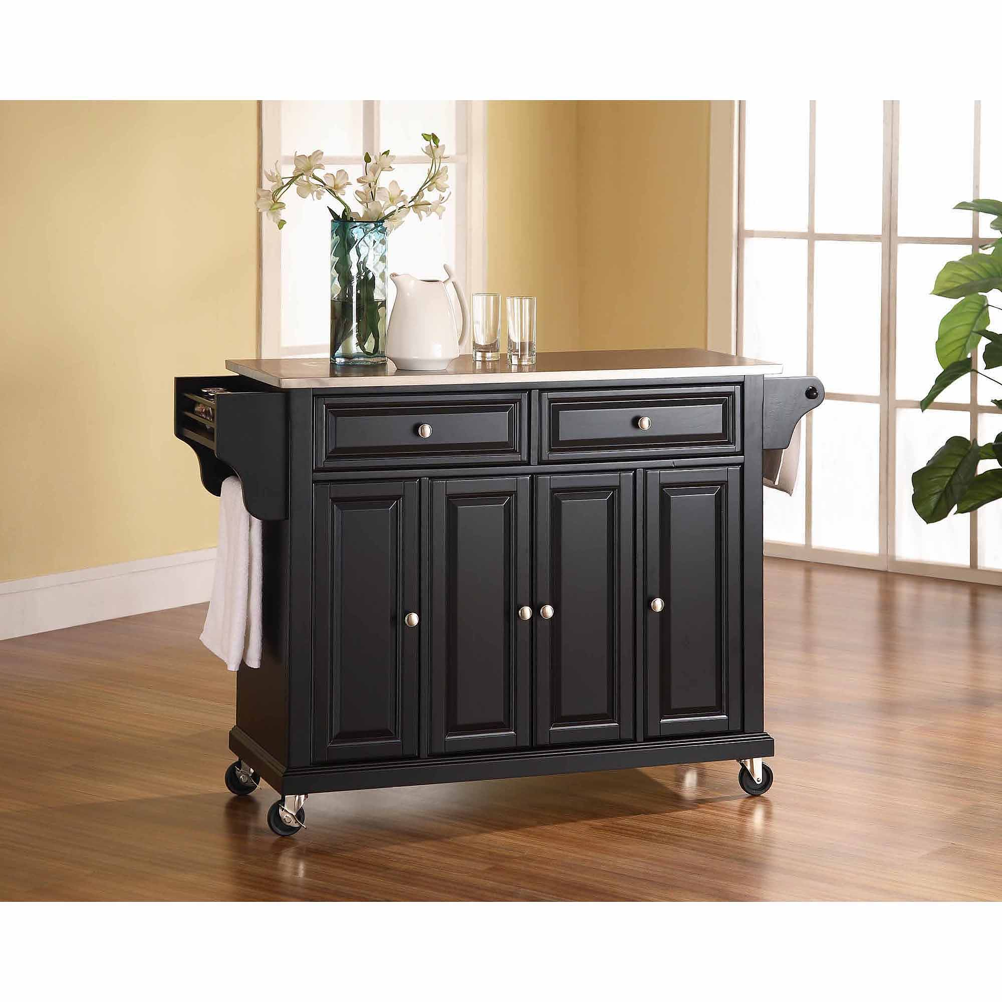 Crosley Furniture Stainless Steel Top Kitchen Cart