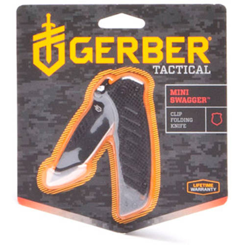 Gerber Mini-Swagger Fine Edge Drop Point Clip Folding Knife