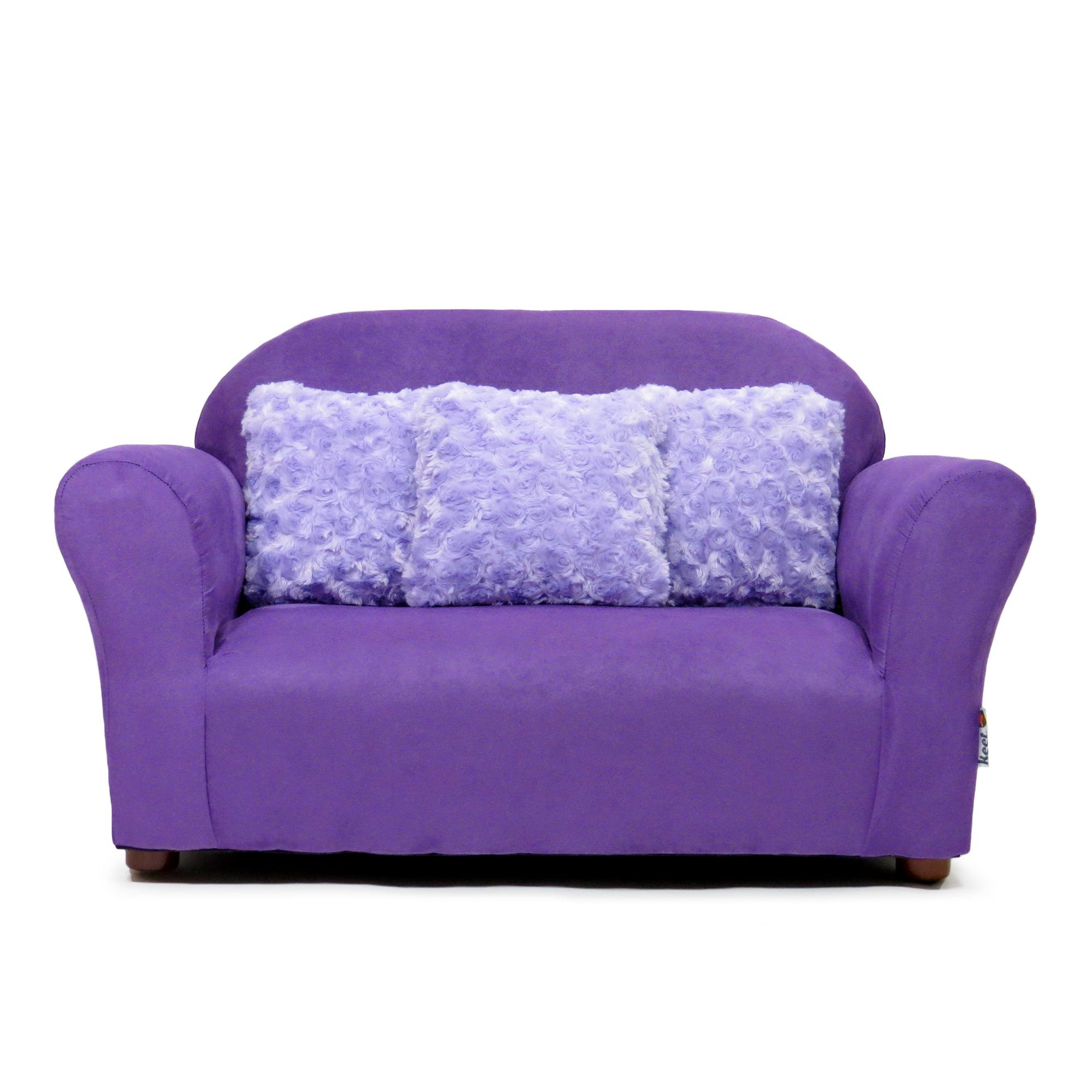 Plush Keet Children S Sofa Purple With