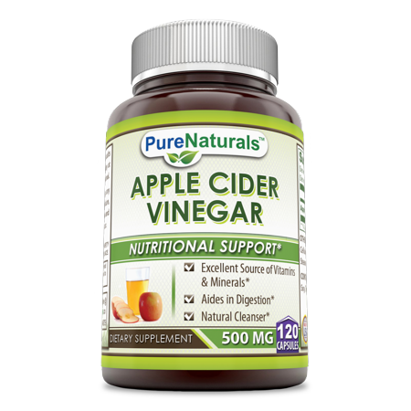 Pure Naturals Apple Cider Vinegar 500 Mg 120 Capsules