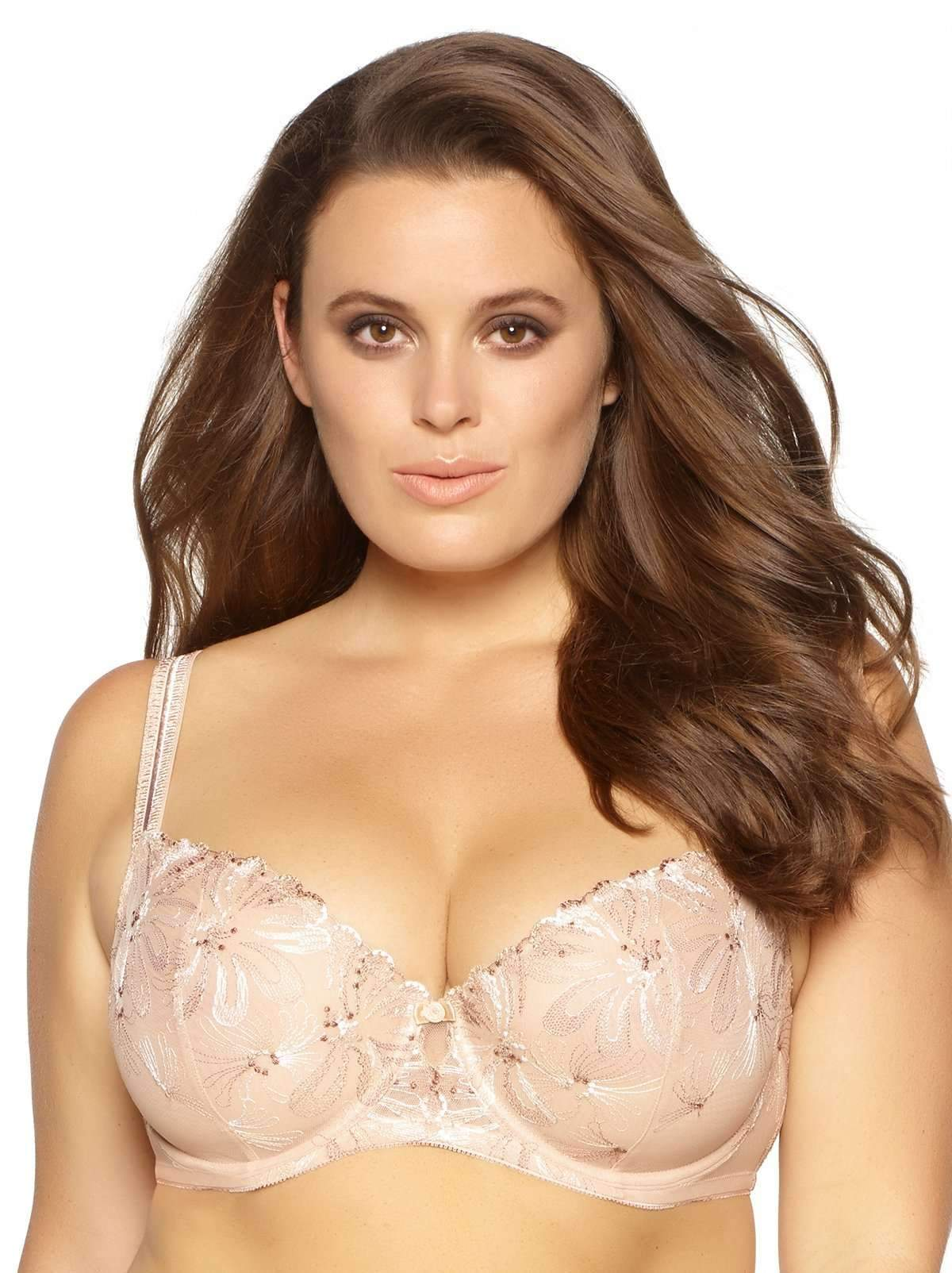 Paramour by Felina | Ellie Unlined Demi Bra | Floral Embroidery | Marquisette
