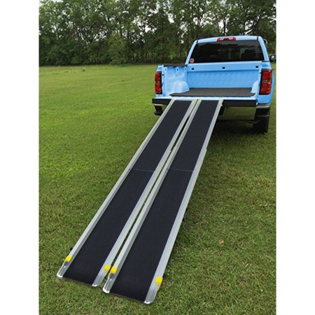 Gymax Aluminum 4' - 7' Adjustable Non-skid Loading Wheelchair Telescoping Track (Wheelchair Track)