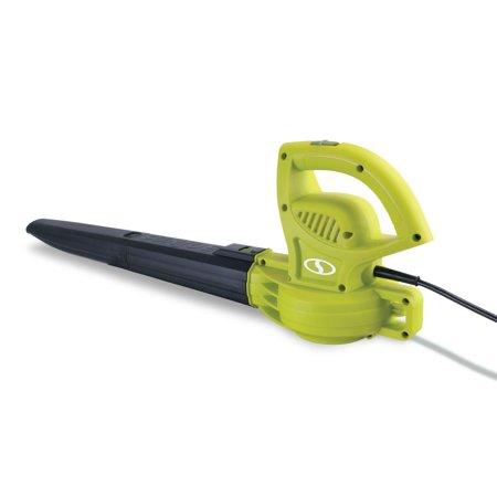 Sun Joe SBJ597E All Purpose Electric Blower | 155 MPH · 6 Amp (Green) (Amp Adult Green)