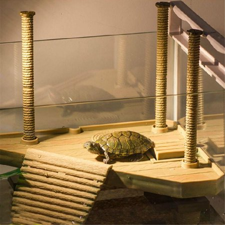 Floating Turtle Pier Terrapin Dock Frogs Reptile Ramp Platform Basking Ramp Ladder Aquarium Decor - image 1 de 9