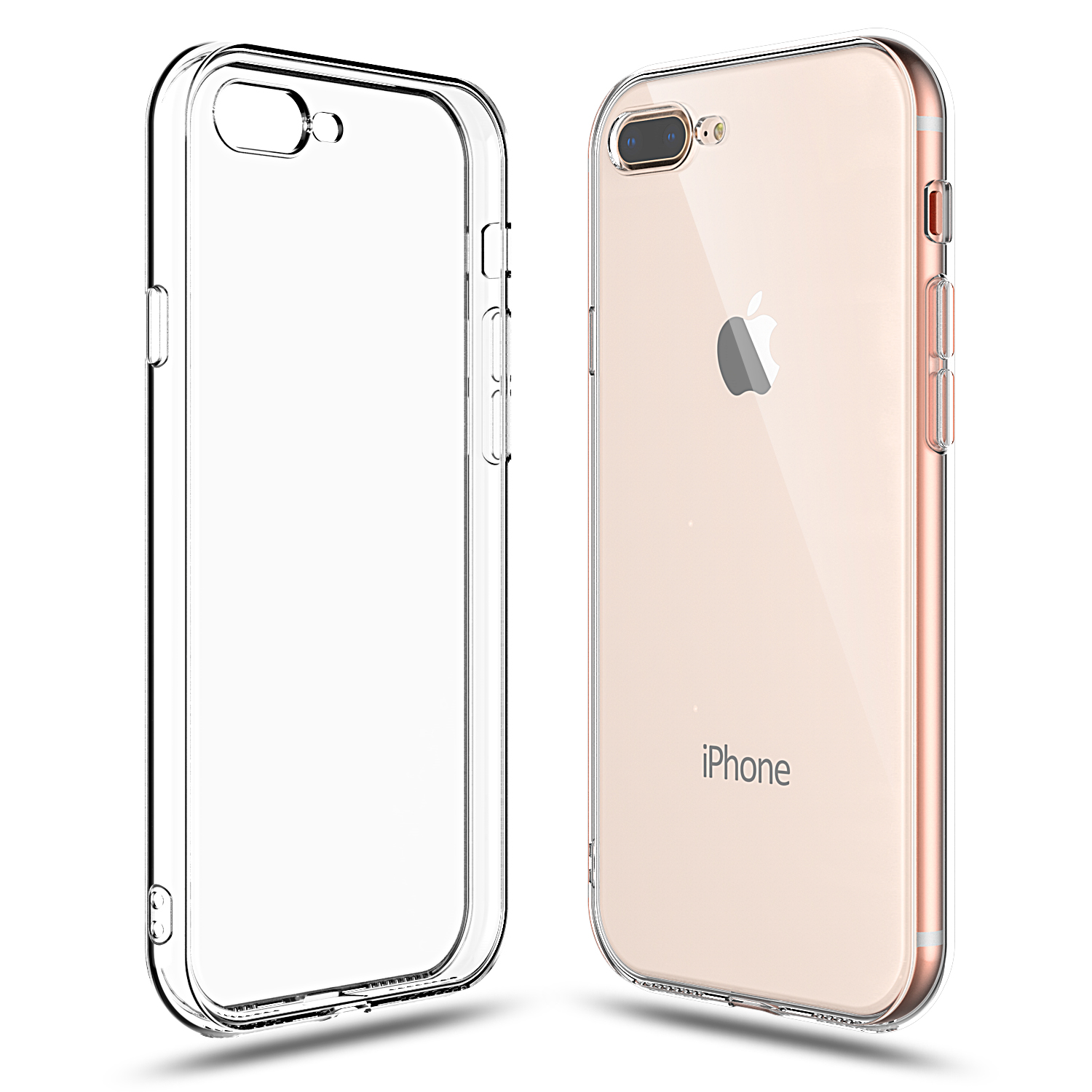 For iPhone 7 Plus, Shamo's [Crystal Clear] Case [Shock Absorption] Cover TPU Rubber Gel [Anti Scratch] Transparent Clear Back, Soft Silicone, Screen Raised Lip Protection, Impact Resistant,