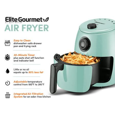 Elite Platinum 2.1qt Hot Air Fryer with Adjustable Timer and Temperature EAF-0201BL