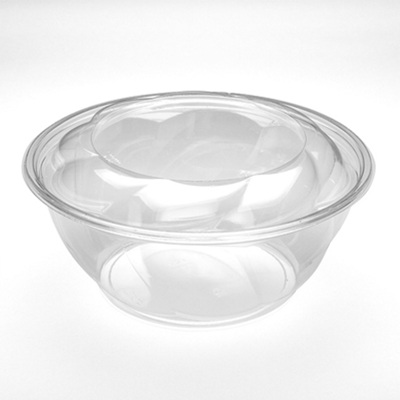 40 oz Clear Swirl Salad Bowl with Dome Lid 100 Set by