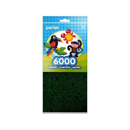 Dark Green Perler Beads (Perler Fused Bead Pkg 6000pc Dark)