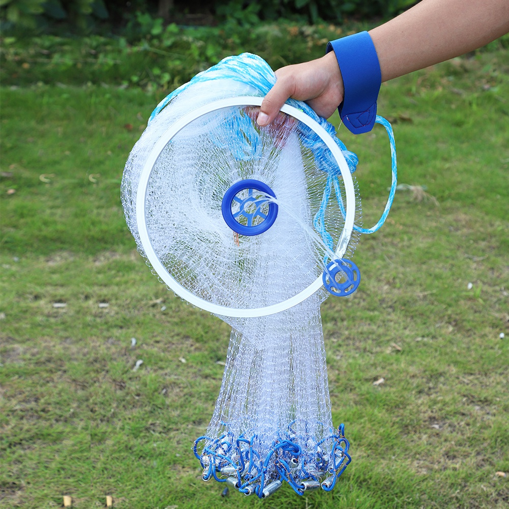 3.6m Outdoor Nylon Monofilament American Style Cast Hand Throw Fishing Mesh Net