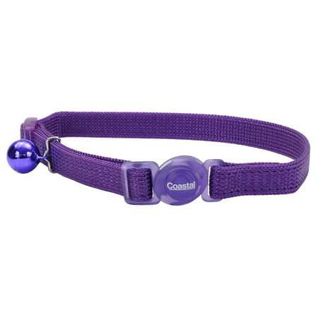 Safe Cat Adjustable Snag-Proof Nylon Breakaway Collar, Adjust 8