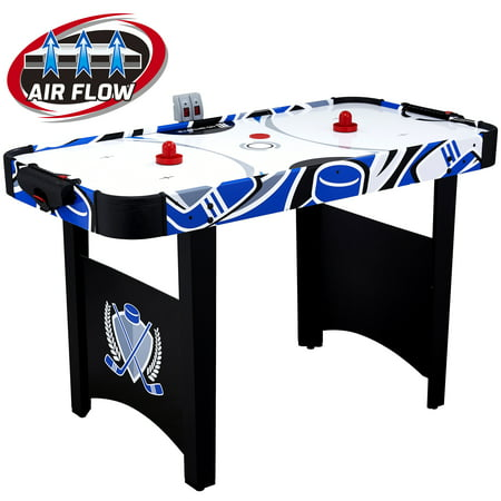 "MD Sports 48"" Air Powered Hockey Table, LED scorer, Accessories included, Black/Blue - Walmart.com"