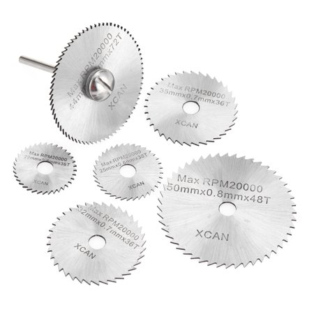 7pcs HSS Circular Saw Blades Rotary Cutting Tools Kit Set with 1/8