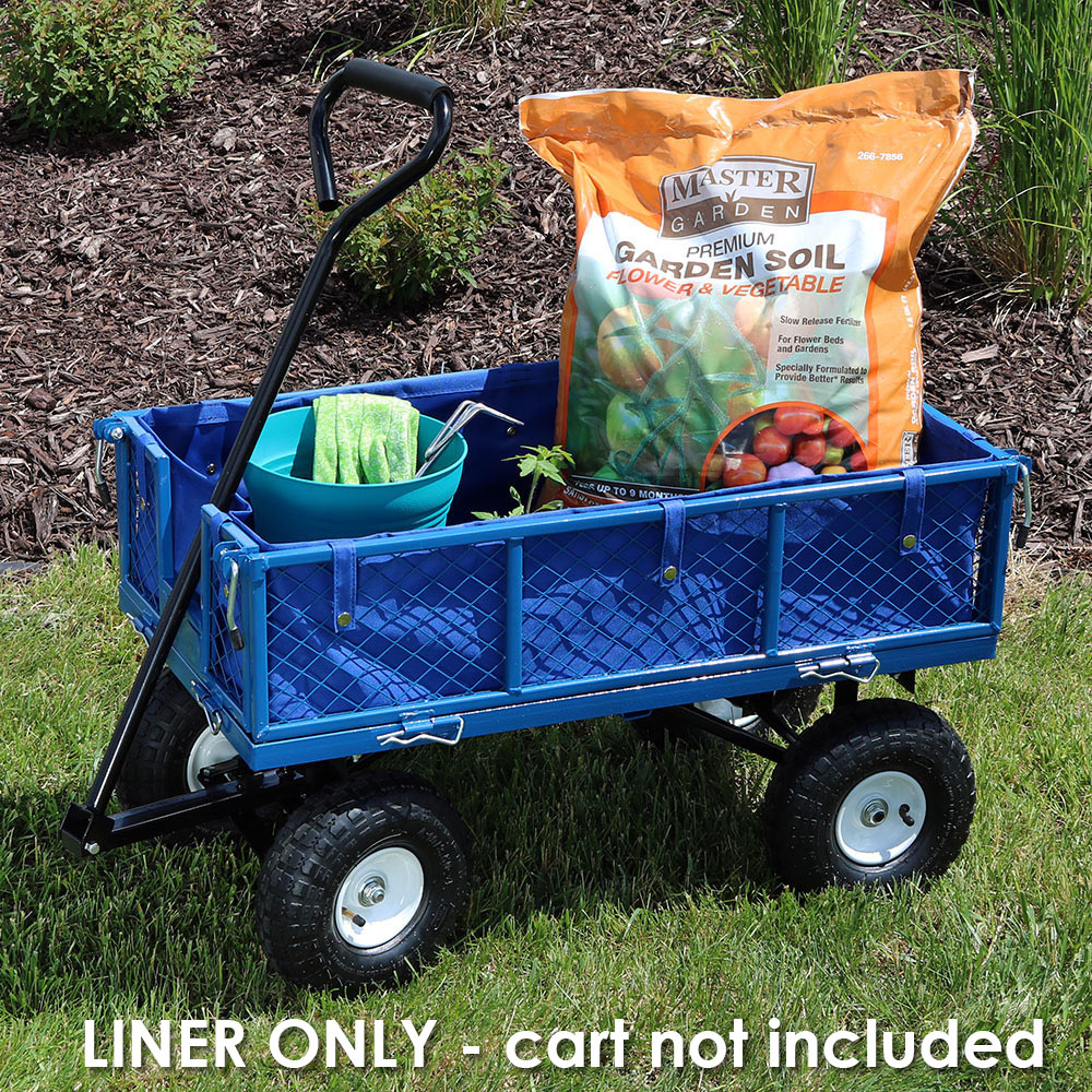 Sunnydaze Liner for Garden Utility Cart, Heavy-Duty Polyester, Black, Liner ONLY