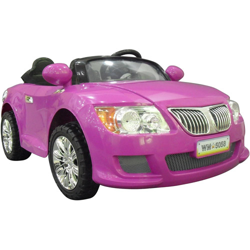 Monster Trax Convertible Car 12-Volt Battery-Powered Ride-On, Purple