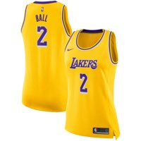 Lonzo Ball Los Angeles Lakers Nike Women's Swingman Jersey - Gold - Icon Edition
