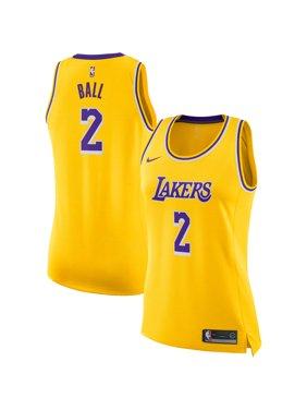 Lonzo Ball Los Angeles Lakers Nike Women's Swingman Jersey - Gold - Icon Edition