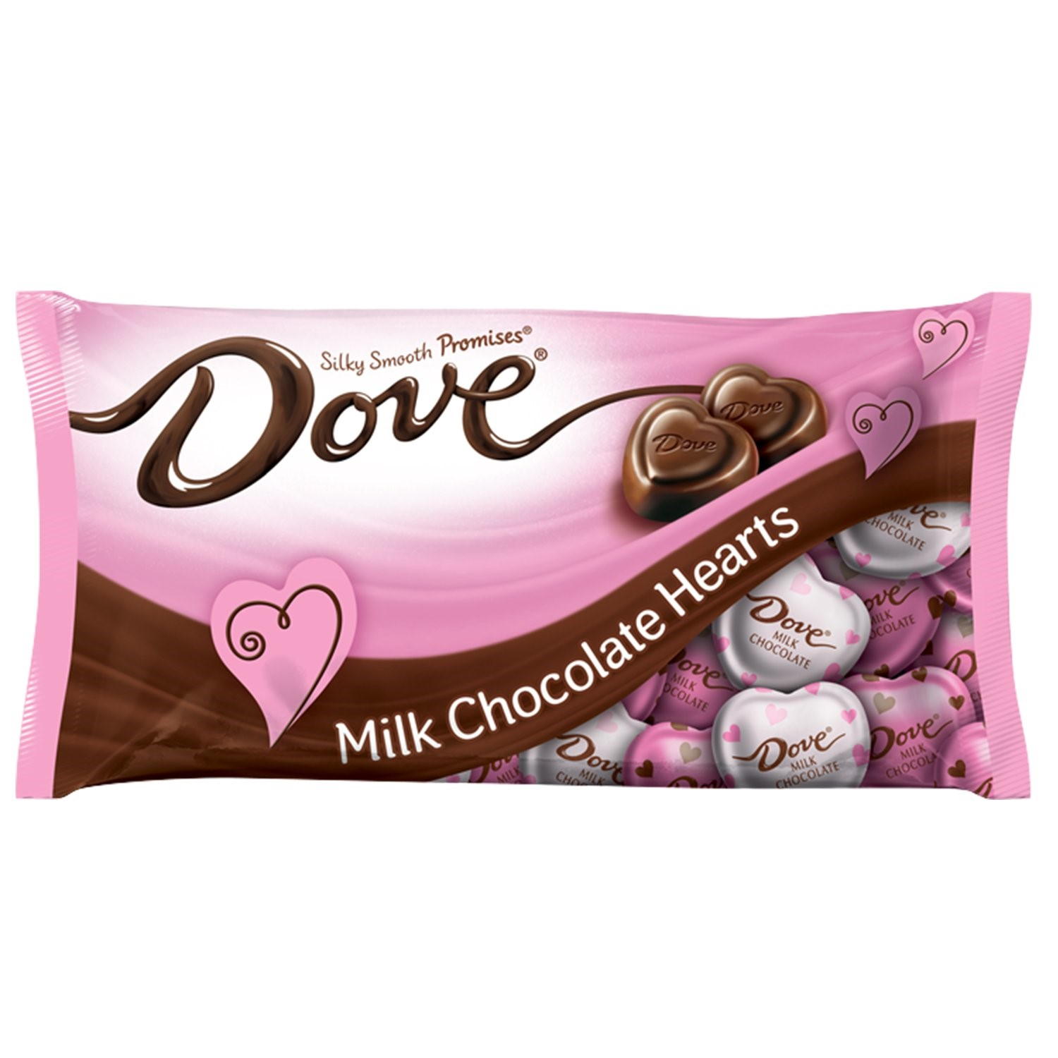 DOVE PROMISES Valentine Milk Chocolate Candy Hearts, 8.87 Oz ...