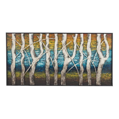 "Sterling Industries 129-1109 24"" x 48"" Metal Art - Queen Lake"