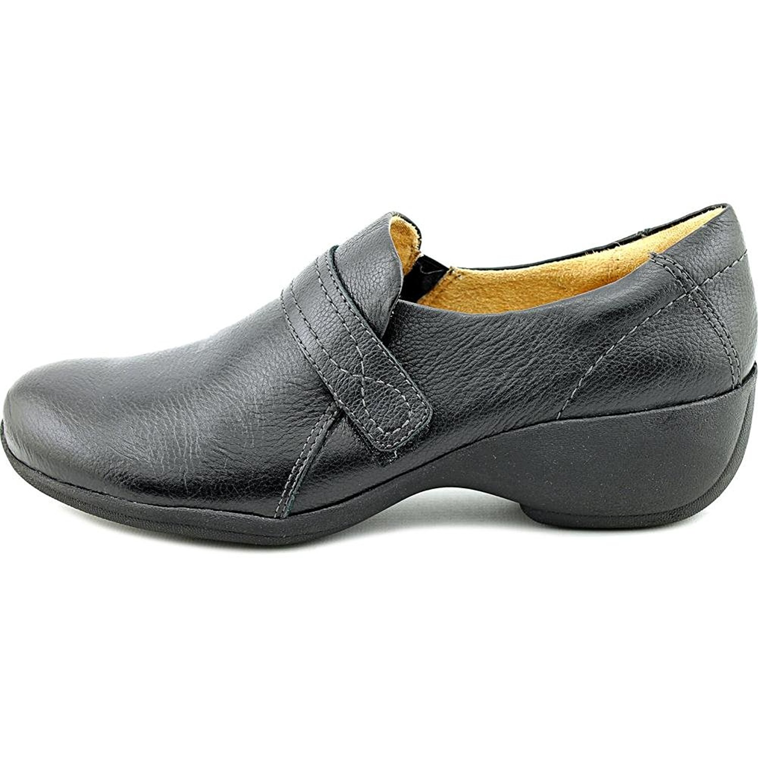 Naturalizer Womens Josefa Leather Closed Toe Clogs, Black Leather, Size 10.0 by Naturalizer