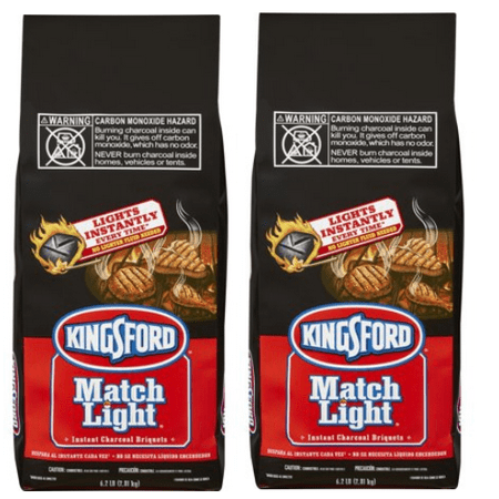 (2 pack) Kingsford Match Light Charcoal Briquettes, 6.2 lbs - Lighting Charcoal Briquettes