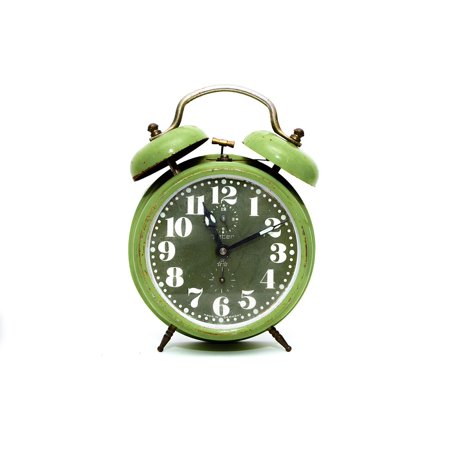 Canvas Print Hour White Minute Alarm Clock Time Watch Retro Stretched Canvas 10 x