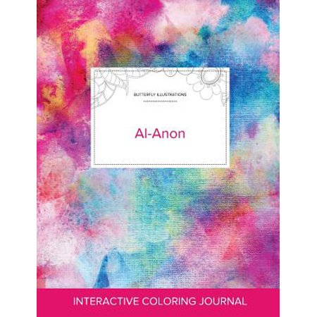 Adult Coloring Journal : Al-Anon (Butterfly Illustrations, Rainbow Canvas) (Anon Wm1)