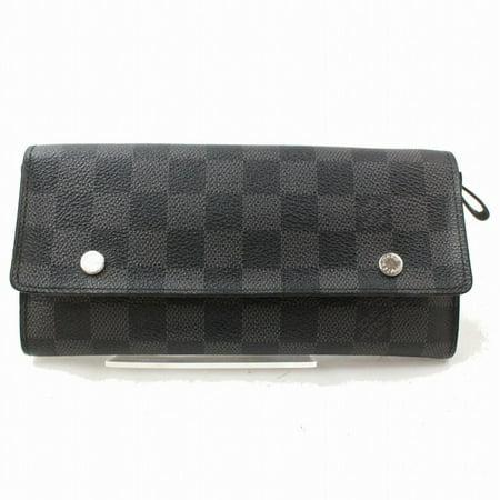 Louis Vuitton Damier Graphite Double Snap Long Wallet Portefeuille Modulable 871374